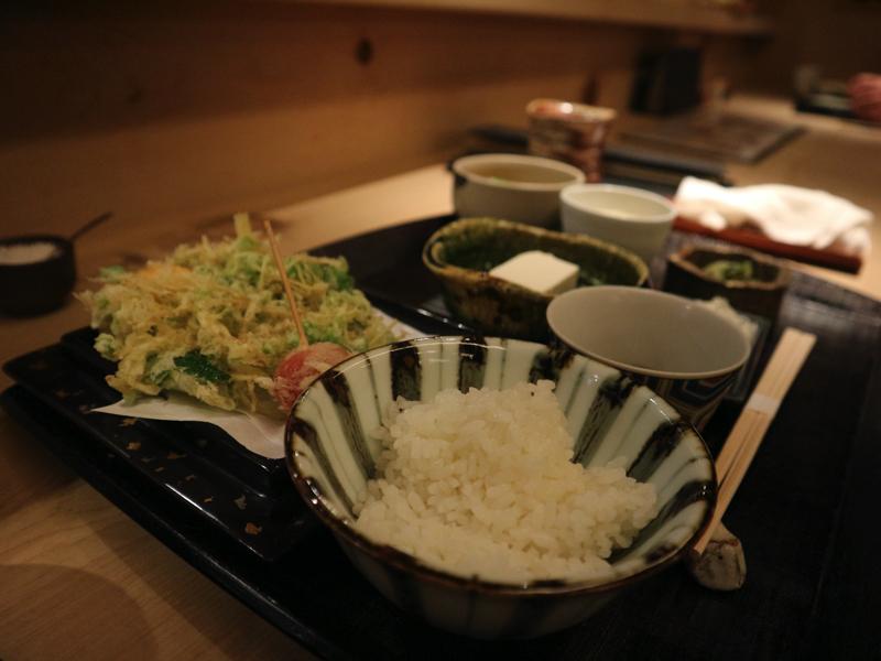 早稲田・手打ち蕎麦「汐見」のかき揚げ御膳